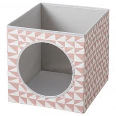 LURVIG ЛУРВИГ Домик для кошки - розовый 33x38x33 см