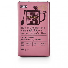 PÅTÅR Кофе молотый, средней обжарки - Уганда/100 % зерна Арабики/Сертификат UTZ