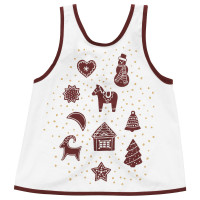 VINTER 2020 ВИНТЕР 2020 Фартук детский - орнамент «имбирное печенье» белый/коричневый 2–4
