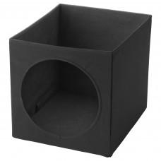 LURVIG ЛУРВИГ Домик для кошки - черный 33x38x33 см
