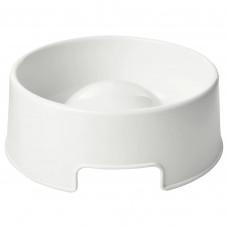 LURVIG ЛУРВИГ Миска для медленного поедания корма - белый 1.2 л
